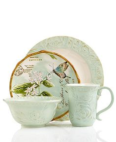 Fitz and Floyd Dinnerware, Toulouse Green Collection - Casual Dinnerware - Dining & Entertaining - Macy's