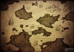 Old world map by ~bzemer on deviantART