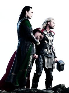 """thefriggasons: """" At the first glance it looked a lot like Loki was clinging to Thors arm. """""""