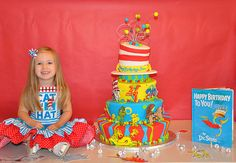 Wow! Take a look at this Dr. Seuss cake! And every room of the house is decorated for this Dr. Seuss party!