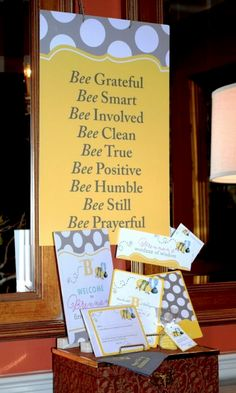 Bumble Bee party pieces.  But this could also be used for a bedroom or any other cute decor.