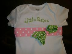 Little sister Bodysuit by BibsandBurps on Etsy, $20.00