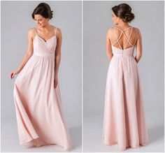 Mackenzie is a beautiful chiffon bridesmaid dress featured in blush pink | Now Trending: 14 Reasons to Love Boho Bridesmaid Dresses | Kennedy Blue