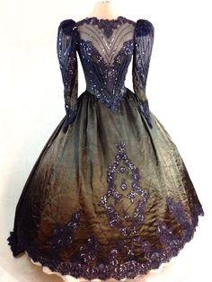 Gothic Halloween Steampunk Victorian Ball Gown Wedding Dress Vampire Masquerade #Handmade #Dress #Masquerade