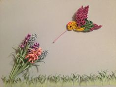 Quilled hummingbird  by jgaCreations on Etsy, $25.00