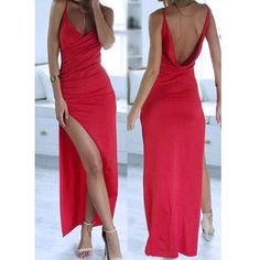 Sexy Prom Dress With Slit Evening Party Gown pst0793