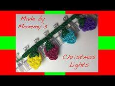 nice Rainbow Loom Band Christmas Lights Charm or Fairy Lights Rainbow Loom Tutorials, Rainbow Loom Patterns, Rainbow Loom Creations, Rainbow Loom Bands, Rainbow Loom Charms, Loom Bands Designs, Loom Band Patterns, Crazy Loom Bracelets, Rainbow Loom Bracelets