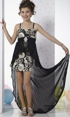 Mini Etekli Kuyruklu Yazlık Kız çocuk Abiye Elbise Modeli