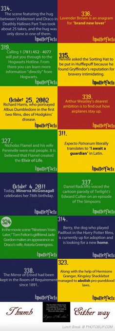 Very Interesting Potter Facts...