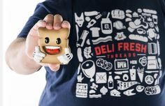 I have waited a long time to finally announce that @richpage  UMETOYS X Deli Fresh Threads #BiggieBread Resin Figurine is now on the DeliFreshThreads.com website!  It is super limited (only 10 made & each hand numbered) so shop now to get a little Biggie Bread in your life.  Also the shirt I'm wearing (DFT icons) is also now available online.