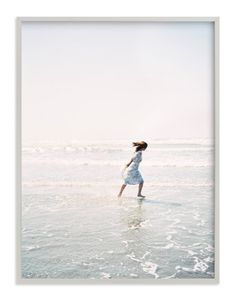 """Dreams + Waves"" - Art Print by Jenni Kupelian in beautiful frame options and a variety of sizes."