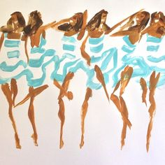 Fashion illustration by Donald Drawbertson Robertson, 2014