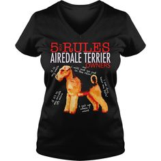 Airedale Terrier 5 Rules for Airedale Terrier Owners tee shirt T-shirt Tshirt Black Youth B079TK8DT, Order HERE ==> https://www.sunfrogshirts.com/Black-Ladies-V-Neck-Airedale-Terrier---Rules-for-Airedale-Terrier-Owners-tee-shirt-T-shirt-Tshirt-Black-Youth-B---TK-DT-1307357220.html?29538, Please tag & share with your friends who would love it, border terrier puppy names, border terrier puppy products, border terrier puppy pets #bordercolliesofinstagram #illustrations #posters #chris..