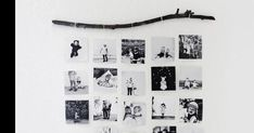 Mural colgante de fotos estilo nórdico