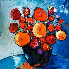 Bouquet, Painting, Oil On Canvas, Flowers, Paint, Bouquet Of Flowers, Painting Art, Bouquets, Paintings