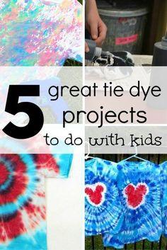 5 great tie dye proj