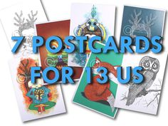 Items similar to postcard promo buy 7 printed postcards for on Etsy Card Sizes, Postcard Size, Postcards, Fine Art Prints, Printed, Unique Jewelry, Paper, Handmade Gifts, Etsy