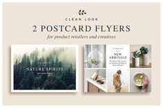 Postcard Flyers by White Box Design Studio on @creativemarket
