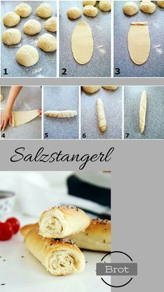With precise instructions! Informations About Salzstangerl einfach sel Bread Bun, Bread Cast, Yummy Snacks, Yummy Food, Dough Recipe, Food Lists, Food Design, Bread Baking, Finger Foods