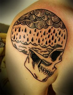 Funny Rain Tattoo Ideas: Skull Rain Tattoo Design For Men On Sleeve ~ Tattoo Design Inspiration 1000 Tattoos, Bild Tattoos, Love Tattoos, Beautiful Tattoos, Tattoos For Guys, Crazy Tattoos, Sweet Tattoos, Rain Tattoo, Tattoo You
