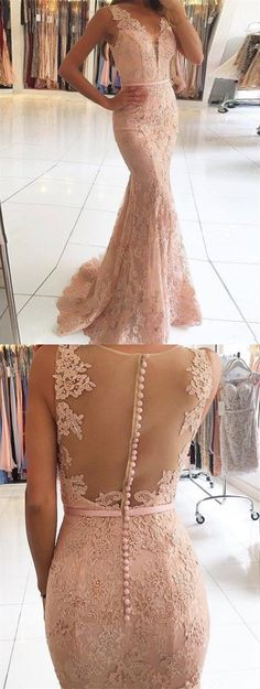 mermaid prom party dresses,  blush key hole evening gowns with pearls, fashion formal gowns.