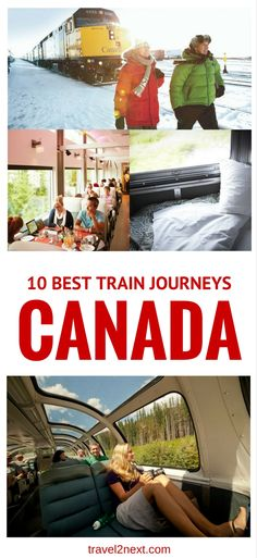 Train Travel in Canada 10 best train travel in Canada. There's something romantic about hopping on a train and travelling across the best train travel in Canada. There's something romantic about hopping on a train and travelling across the land. Quebec, Ontario, Romantic Vacations, Romantic Travel, Alberta Canada, Fotos Do Canada, British Columbia, Travel Guides, Travel Tips