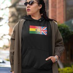 Personalised Mixed Heritage Flag Hoodie - M