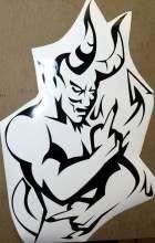 PLOTT FOR YOU - Devilface in schwarz
