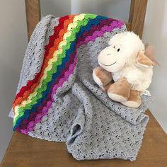 New baby blanket just added to #etsyshop link in bio. #crochetblanket #handmade…