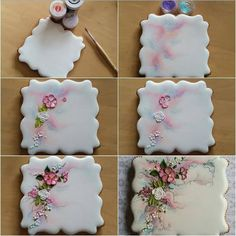 30 Gorgeously Decorated Cookies Too Beautiful To Eat - Kekse Ideen Fancy Cookies, Iced Cookies, Cute Cookies, Easter Cookies, Cupcake Cookies, Sugar Cookies, Vintage Cookies, Cookie Icing, Royal Icing Cookies