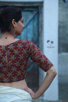 Red Palm Tree Kalamkari Cotton Blouse – Queen of Hearts India