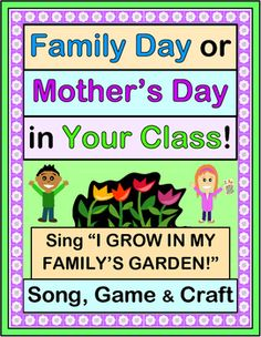 "FAMILY DAY, MOTHER'S DAY or END-OF-YEAR CELEBRATION in your class? Enjoy this 6-note SONG and CRAFT ACTIVITY that say ""Thank You"" for all the loving care that Families give!  CRAFT TEMPLATES ('props' for Sun, Rain Cloud, and Trowel) plus simple Song notes are included. Fun, easy, ACTIVE, and providing great 'photo ops' in your class! (7 pages) From Joyful Noises Express TpT! $"