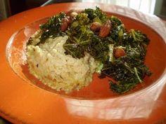 Vegan Grits and Greens- basically tomorrow's menu!