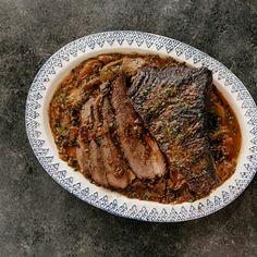 Molly Yeh Shares Rosh Hashanah Brisket Recipe on Girl Meets Farm Honey Recipes, Pork Recipes, Healthy Recipes, Game Recipes, Healthy Food, Beef Tenderloin Roast, Roast Beef, Noodle Kugel Recipe, Five Course Meal
