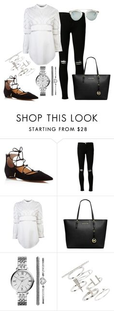 """""""Untitled #285"""" by charlotte-down on Polyvore featuring Ivanka Trump, J Brand, Alexander Wang, Michael Kors, FOSSIL, Topshop and Christian Dior"""