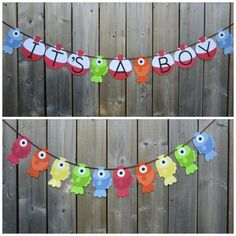 I like this IT'S A BOY Gone Fishing Theme Banner - Fish Child Bathe Banner - Gone Fishing Child Bathe - Made To Order
