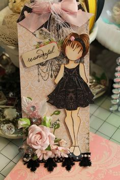 3/1/2014; Letty from Mylittlesweetpeaz on 'Just Paper and Blingblog;  Prima Doll Tag