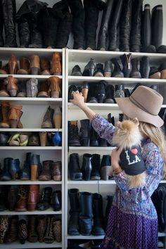 Closet Inspiration Use IKEA s Billy Bookcase to Mimic Custom Shelving Apartment Therapy Diy Shoe Storage, Diy Shoe Rack, Ikea Storage, Storage Hacks, Storage Ideas, Closet Storage, Boot Storage, Clothing Storage, Record Storage