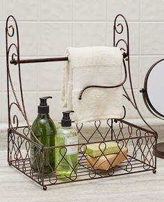 Description Bathroom Countertop Paper Towel Holder With Hand Soap Storage Basket Bronze Use this Paper Towel  sc 1 st  Pinterest & 844 best Bathroom Countertop Storage Ideas images on Pinterest ...