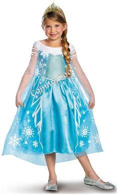 Disney Frozen Deluxe Elsa Toddler/Child Costume #halloween #hallowwencostume #costume #kidscostume #infantcostume #disney #disneycostume #disneyprincesscostume