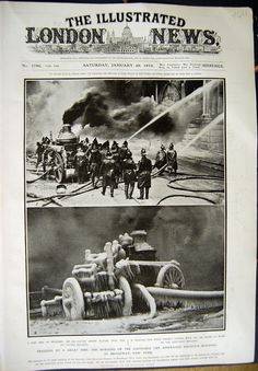 [Print 1912 Fire Life Assurance Building New York Ice Engine 104N319 Old Original]