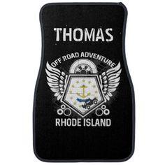Rhode Island Off Road Adventure 4x4 Trail Ride Car Floor Mat - customizable diy