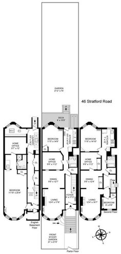 Floor plan in restored four story lincoln place brooklyn brownstone prospect lefferts townhouse wants 125 million and more malvernweather Images