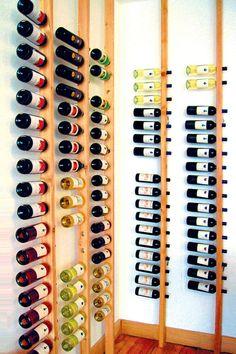 Wandregale - Die Weinstele, Weinregal, Wandregal Flaschen Regal - ein Designerstück von froboese bei DaWanda