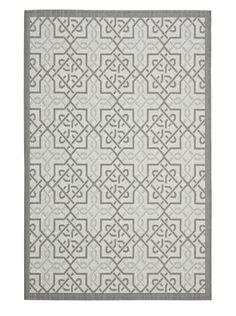 46% OFF Safavieh Indoor/Outdoor Knot-Pattern Rug (Light Grey/Anthracite)