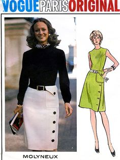 1970s Vintage Sewing Pattern Vogue Paris Original by sandritocat