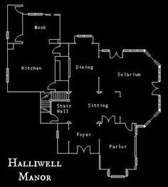 Charmed Halliwell Manor floor plans 1