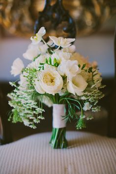 Rustic White Cascading Bridal Bouquet | Root 75 | Jackie Wonders Photographer | TheKnot.com