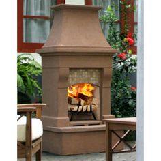 Classy and chic Perfect Outdoor Fireplace http://www.mantelsdirect.com/Products-Accessories/Napa-Collection-Outdoor-Fireplace-Kits/Calistoga-Outdoor-Wood-Burning-Fireplace #backyard #patio #product