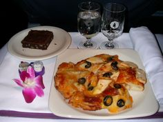 Hawaiian Airlines - Dinner  First Class